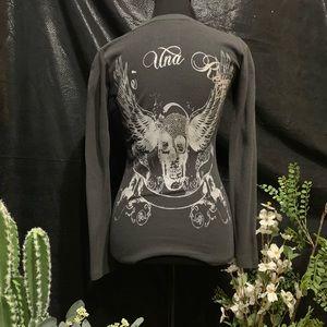 Embellished long sleeve shirt